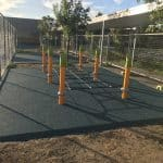 Outdoor Fitness Equipment low horizontal cable netting for children to run over
