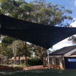 Hypar sail shade structure over child care centre main yard