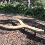 Log Balance Beam in Parkequip's recent project Drummer Parry Park Terrigal
