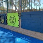 Wall panels for playground sensory finger maze panel
