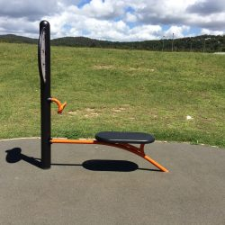 outdoor fitness equipment ab crunch bench